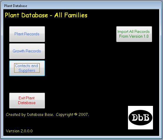 Plant Collector Database | Database Base Australia